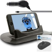 Anti-Slip In Car Holder And Micro USB Charger For LG Cookie Lite T300
