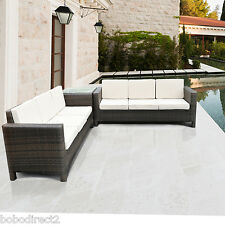 Rattan Garden Furniture Sofa Set for Conservatory Patio Outdoor Table Wicker