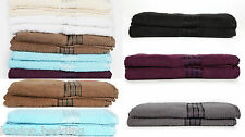 LUXURY 100% PURE EGYPTIAN COTTON BATH TOWELS BALE SETS COMBED COTTON 7 COLOURS