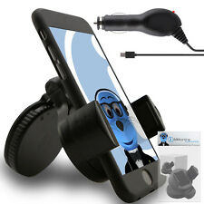 Suction In Car Holder And Micro USB Charger For Motorola MB220 Dext