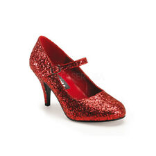 "Sexy 3"" Dorothy red glitter Mary Jane women's shoes"