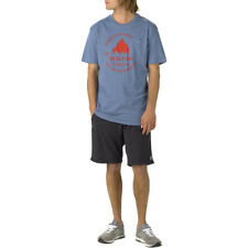 Burton Gristmill Slim Mens T-shirt - Washed Blue All Sizes