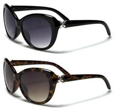 NEW SUNGLASSES BLACK VG LADIES WOMENS DIAMANTE LARGE CAT EYE RETRO VINTAGE UV400