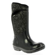 Bogs Womens Black Insulated Cold Weather Quilted Waterproof Tall Trending Boot