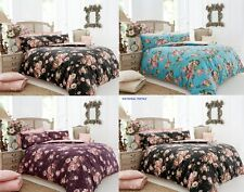 Silk Floral Vintage Duvet Set With Pillow Cases Single,Double,King,Super King