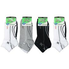 "Mens Trainer ""X Sports"" Black, White & Grey Socks In 3, 6, 9 & 12 Pairs UK 6-11"