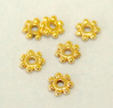 50 4mm Tibetan Gold Daisy Spacers Free Shipping