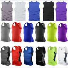 Sports Men Compression Sleeveless Base Layer Under Wear Tank Top Vest Shirts Y23