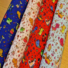 Friendly Kids Monsters, Dinosaurs Polycotton Fabric