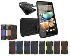For HTC Desire 828 Heavy Duty Armor Dual Layer Hybrid Kickstand Case Cover