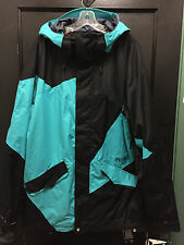 "VOLCOM ""SHAPER"" JACKET (BLACK/TEAL) (LARGE) MENS COAT RETAIL $220 2015'"