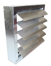 """Louvre Shutter Industrial/ Gravity Outer Grille/Galvanised 8"""" to 24"""""""