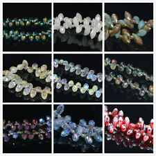 Wholesale 100Pcs Teardrop 11 Colors Swarovski Crystal Loose Beads 6mm Free Ship
