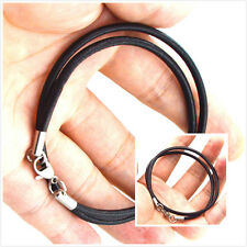2015 sell stainless steel 3mm Braided Genuine Leather Cord Necklace/Bracelet MK9