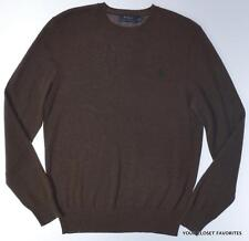 $325 POLO RALPH LAUREN Mens S or XL 100% CASHMERE Brown Pullover Sweater