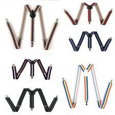 Adjustable Slim Mens Ladies unisex  Braces Trouser Suspenders Clip on Elastic