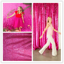 TRLYC Fuchsia  Pink Sequin Backdrop for Wedding,More Sizes and Colors Available