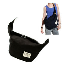 Unisex Casual Canvas Messenger Sling Shoulder Bag Hobo Cross Body Bag Chest Pack