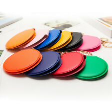 Mini Round Lady Makeup Mirror Portable Compact Pocket Cosmetic Mirror Keyring