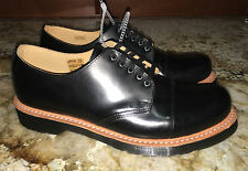 NEW Unisex Mens US 9 DR MARTENS Black Leigh 5 Eye Toe Cap Shoes Womens 10