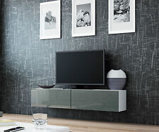 BMF VIGO TV STAND FLOATING WALL MOUNTABLE UNIT HIGH GLOSS FRONTS UNIT -  140 cm
