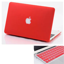 2in1 Red Frosted Hard Case Cover + KB Skin For Macbook Air Pro 11 12 13 15 ''