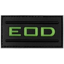 PVC 3D Velcro Morale Patch EOD Glow In The Dark Airsoft Military Tactical