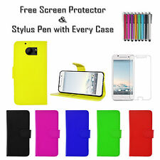 Leather Pu Wallet Soft Tpu Gel Stand Case Cover Card Holder For HTC One M10 UK