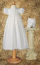 NWT Girls Gown PC20GS  Polycotton Teardrop Lace Christening Blessing Baptism