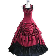 Victorian Period Prom Ball Dress Southern Belle Gown Reenactment Theater Costume