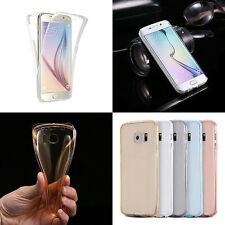 360° Protective Shockproof TPU Crystal Clear Soft Case Cover For iphone&Samsung