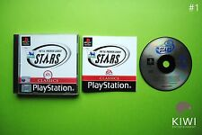 The F.A. Premier League Stars PS1 Sony Playstation 1 PS2 PS3 PAL Football Game