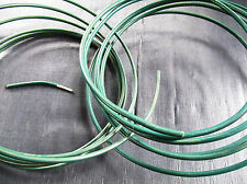 Green Plastic Coated Wire 4.2mm-3.4mm rolls 3m or 10m for craft garden work