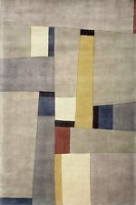Momeni New Wave 23 Gray Area Rug Modern Contemporary Wool Living Room All Sizes