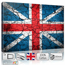 UNION JACK BRITISH FLAG - CANVAS WALL ART FRAMED PRINT PICTURE PHOTO HOME DECOR