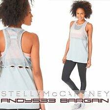 adidas STELLA SPORT McCartney Swim Mesh Tank Cotton Womens CLIMALITE® Top 2 XS S