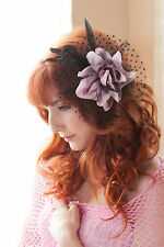 Flower Feather Fascinator Cocktail Hat Hair Clip Pin