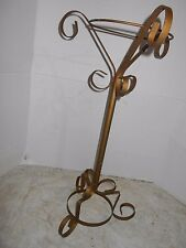 Vintage collectible two piece metal plant Holder that measures 24 x 12 inches.