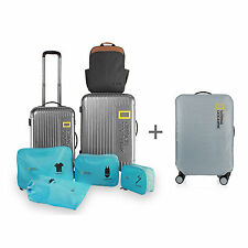"National Geographic Luggage NG S6401F Baggage Set 20"" + 24"" + Pouch + Cover"
