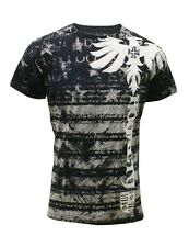 Konflic Nwt Men's Giant Stripe Shadow Eagle Grapic MMA Muscle Shirts(S/#727)