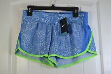 NWT WOMEN'S NIKE BLUE RUNNING ATHLETIC STRETCH DRI FIT SHORTS SIZE M, XL