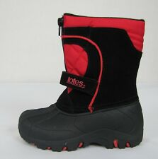 Totes boys boots Jason black red toddler sizes 9 10 NEW