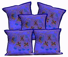 5pcs-100Pcs Jari Embroidered Work Ethnic Cushion Covers Wholesale Lot From India