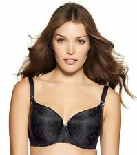 NWT $74 Fantasie Rhiannon UW Molded Balcony Bra UK Size 38E Black #2222