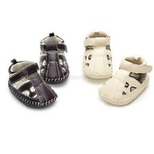 Infrant Girls Boys PU Leather Sandals Toddler Summer Anti-slip Baby Shoes 0-18M