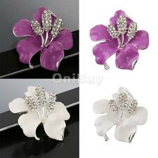 Rhinestone Crystal Vintage Rose Flower Brooch Pin Brooches Jewelry Gift