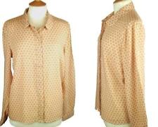 La Redoute Nude & Cream Fitted Long Sleeve Top Blouse Shirt Size 26