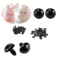 Black Safety For Teddy Bear Plastic NEW Animal/Felting Toy 6-14mm 100pcs Eyes