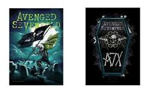 AVENGED SEVENFOLD A7X - CEMETERY / COFFIN - OFFICIAL TEXTILE POSTER FLAG