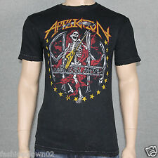 Affliction HYSTERIA Metal Collection  A10353 Mens T-shirt Tee Black Lava Wash